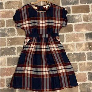 LOFT plaid dress size 0